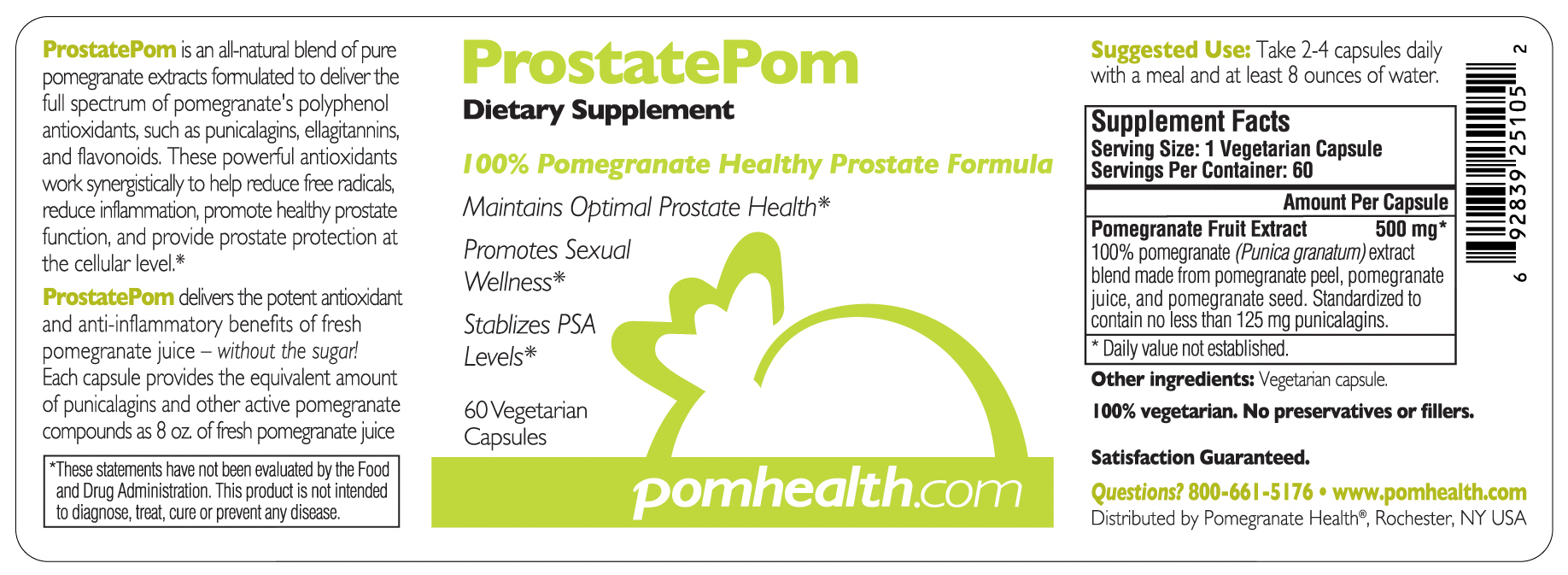 Prostate pom prostate health supplements antioxidants this product is not intended to diagnose treat cure or prevent any disease fandeluxe Gallery